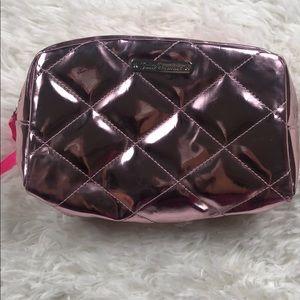 JUICY COUTURE Pink Metallic Cosmetic Bag